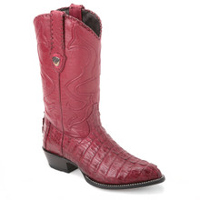 Wild West Burgundy Genuine Caiman Boots