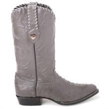 Wild West Gray Genuine Ostrich Boots