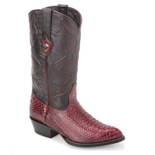 Wild West Burgundy Genuine Python Boots
