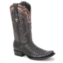 Wild West Black Genuine Ostrich Boots