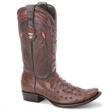 Wild West Brown Genuine Ostrich Boots