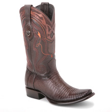 Wild West Brown Genuine Lizard Skin Boots