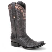 Wild West Black Genuine Caiman Boots