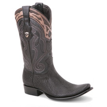 Wild West Black Genuine Sharkskin Boots