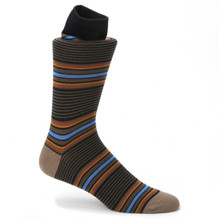 Tallia Navy & Rust Printed Socks