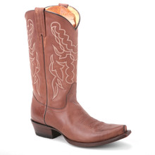 These exotic boots in cognac from the new line of King Exotic will impart a classic western appeal to your ensembles. They are made of genuine leather.