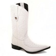 Be a few steps ahead of everyone with these white boots from the house of Wild West. Made of genuine leather, the pair has a 3x-toe profile and 13-inch shaft.