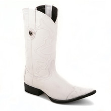These wingtip boots from the house of Wild West comes in a classy white color. The pair is made of genuine ostrich skin and has an uber-cool 3x-toe design.