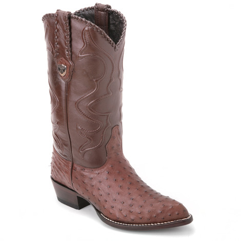 Narrating a western story, these dual-toned brown boots from Wild West are made of genuine ostrich skin. It has an exquisite 13-inch high leather shaft.