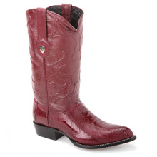 Be the life of every party with these handmade boots in burgundy from the house of Wild West. Made of genuine ostrich skin and leather, it has a j-toe design.