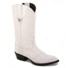 These genuine eel skin boots in white from the house of Wild West will impart a flawless appeal to your ensembles. One can't miss these j-toed boots!
