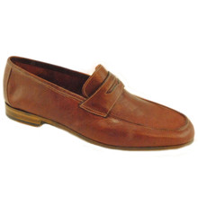 Navarra Cognac Soft Buffalo Leather Slip-ons by Baker Benjes