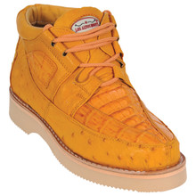 Buttercup Genuine Caiman & Ostrich Skin Casual Sneakers by Los Altos