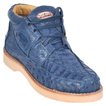 Blue Jean Genuine Caiman & Ostrich Skin Casual Sneakers by Los Altos
