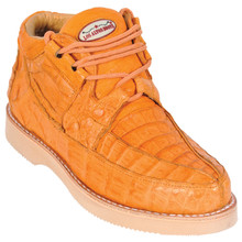 Buttercup Full Caiman Skin Casual Sneakers by Los Altos