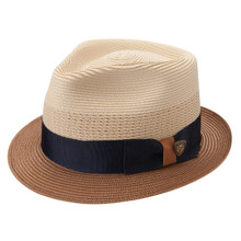 Dobbs Camarillo Sand & Cognac Vented Crown Milan Straw Hat