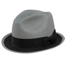 Dobbs Theadore Black & Gray Milan Soft Finish Straw Hat