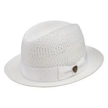 Dobbs Madison White Vented Crown Milan Straw Hat