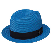 Dobbs Parker Royal Blue Florentine Milan Straw Hat