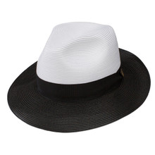 Dobbs Toledo White & Black Florentine Milan Straw Hat