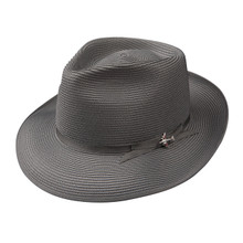 Stetson Stratoliner Gray Florentine Milan Firm Finish Straw Hat