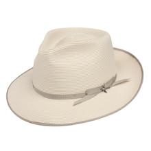Stetson Stratoliner Beige Florentine Milan Firm Finish Straw Hat