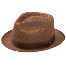 Stetson Inwood Bronze Hemp Braid Firm Finish Straw Hat