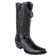 Los Altos Black Caiman Belly 7 Toe Boots