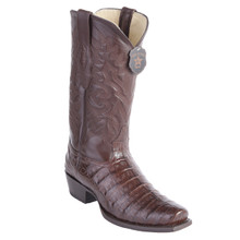 Los Altos Brown Caiman Belly 7 Toe Boots