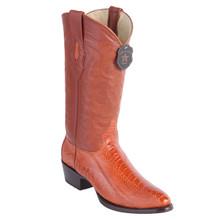 Los Altos Cognac Ostrich Leg Round Toe Boots