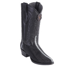 Los Altos Black Stingray Round Toe Boots
