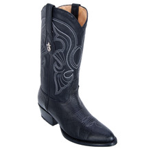 Los Altos Black Genuine Bull Shoulder Leather Boots