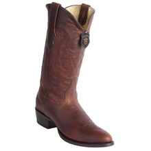 Los Altos Walnut Rage Leather Round Toe Boots