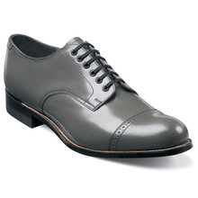 Stacy Adams Madison Gray Kidskin Leather Oxfords
