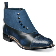 Stacy Adams Madison Navy Ostrich & Suede Ankle Boots