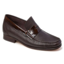 Sandro Moscoloni Bilbao Black Leather Penny Loafers