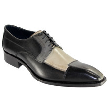 Duca Black & Multi Calfskin Leather Oxfords