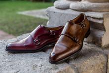 Jose Real Cognac Leather Double Monkstraps