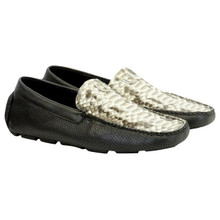Vestigium Natural & Black Python & Leather Loafers