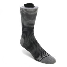 Tallia Black & Grey Multicolor Stripped Socks