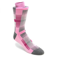 Tallia Pink & Grey Multicolor Stripped Socks
