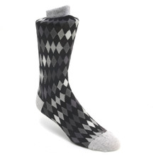 Tallia Black & Grey Multicolored Printed Socks
