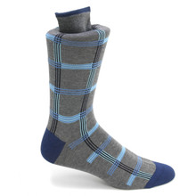 Tallia Blue & Grey Patterned Multi-toned Socks