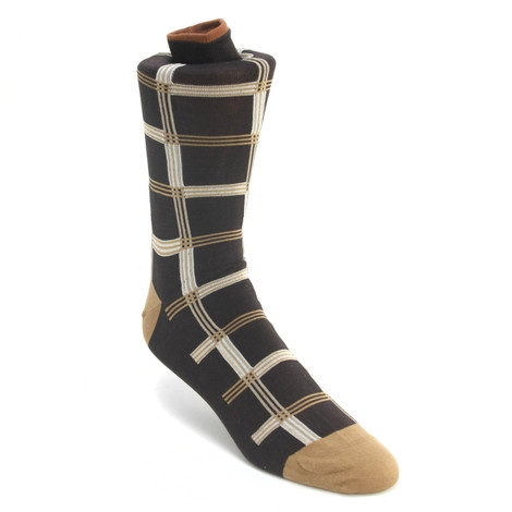 Tallia Brown & Beige Patterned Multi-toned Socks