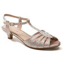 Lady Couture Betty Champagne Kitten Heel Sandals