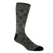 Remo Tulliani Cherokee Charcoal and Black Dress Socks