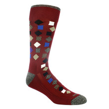 Remo Tulliani Gelding Cardinal & Multi Patterned Socks