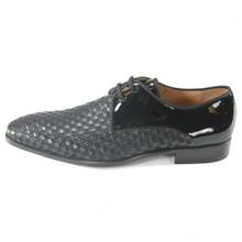 Mezlan Sexto Black Fabric & Leather Blucher Oxfords