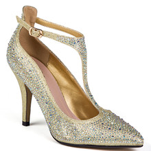 Chic by Lady Couture Party Gold Heels