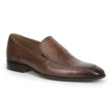Giorgio Brutini Emerson Tobacco Leather Slip-ons